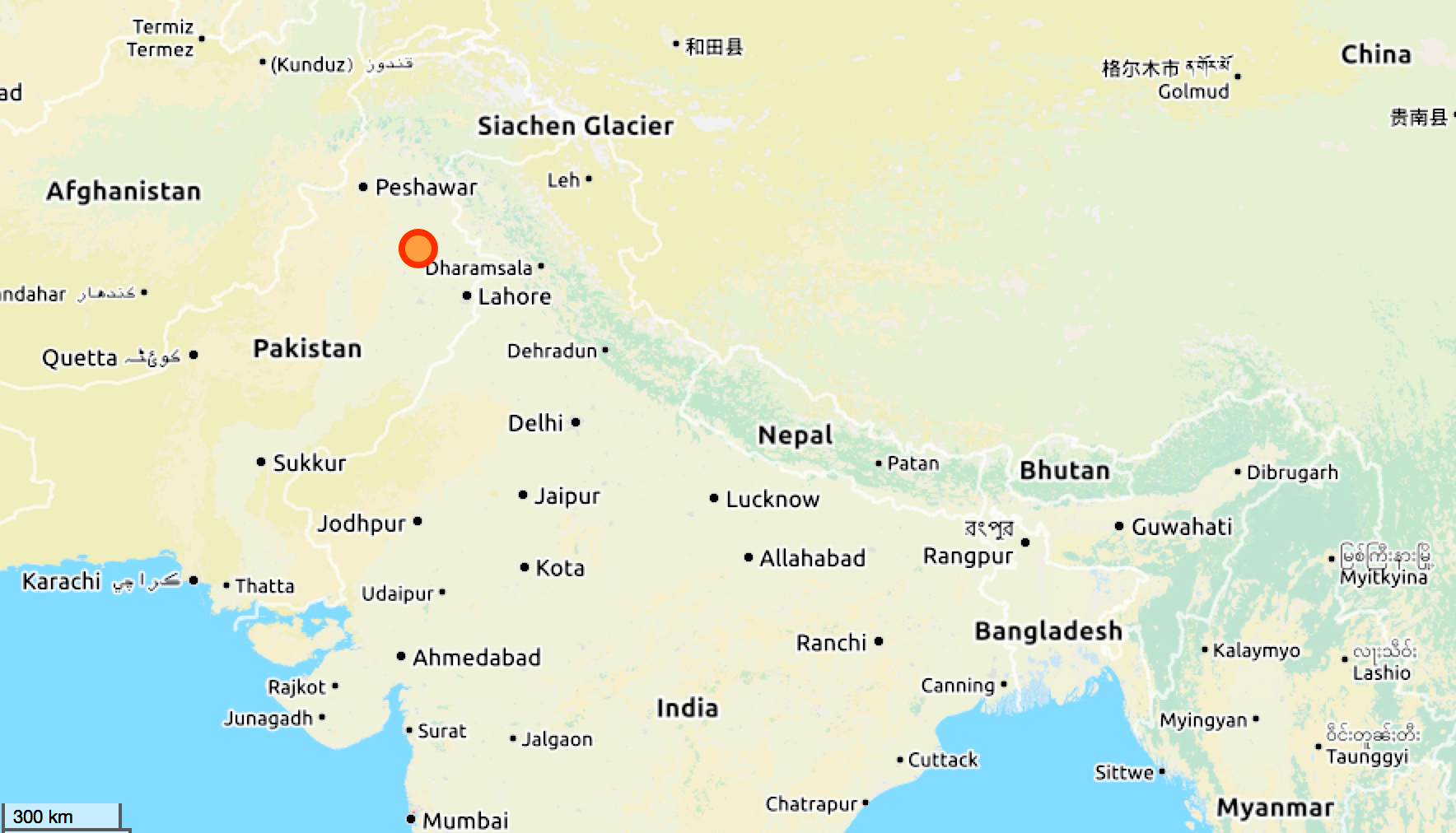 Landkarte Salzberge Pakistan